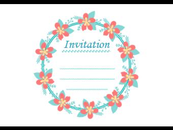 Flower Wreath Invitation Card