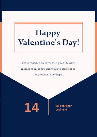 Folder Valentine Day Card