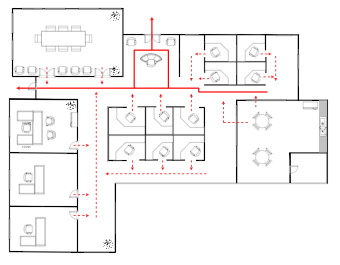 Office Building Evacuation Plan