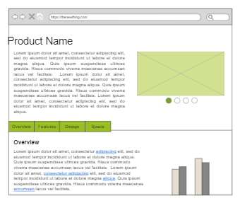 Production Introduction Page Wireframe