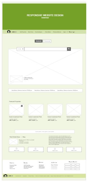 Responsive Website Wireframe