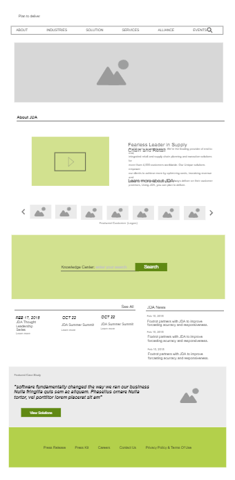 Supply Chain Website Wireframe