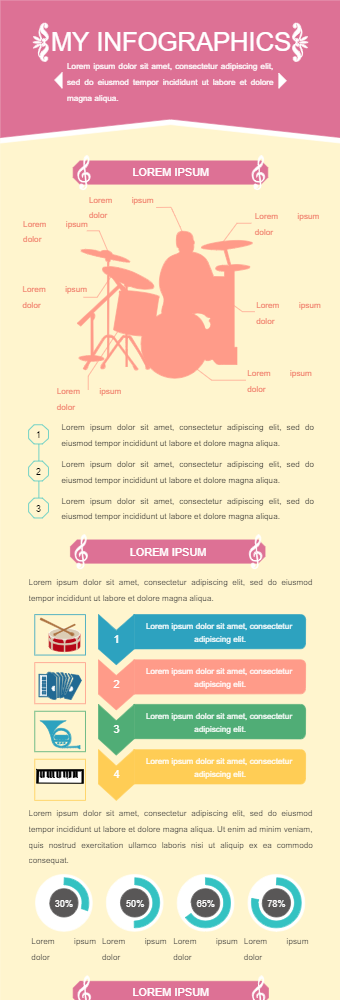 Drums Infographics