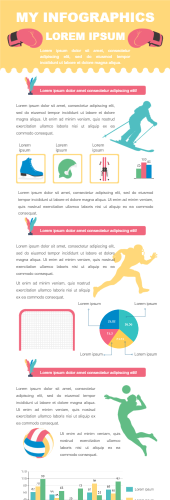 Sports Goods Sales Infographic