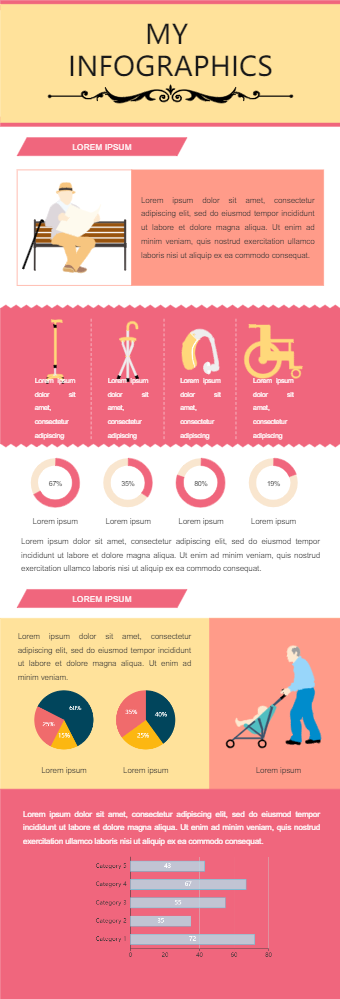 Old Age Helping Equipment Infographic