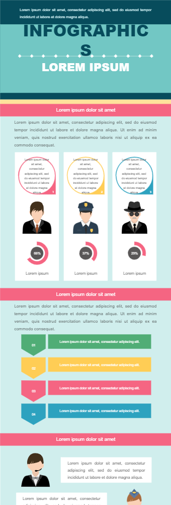 Genders' Profession Infographic