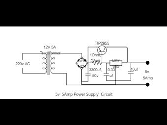 5V 5Amp Power Supply Circuit Diagram