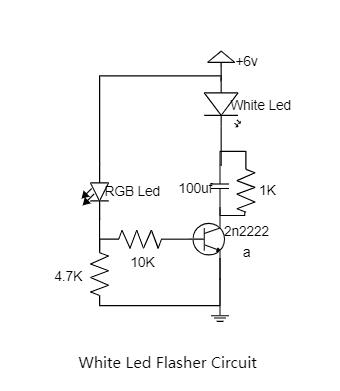 White Led Flasher Circuit Diagram