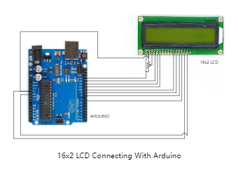 Arduino with LCD Circuit Diagram