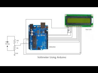 Voltmeter Using Arduino Diagram